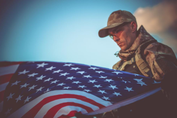 Patriot with Flag
